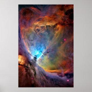 Poster Galaxie d'espace extra-atmosphérique de nébuleuse