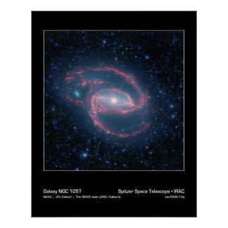 Poster Galaxie enroulée de NGC 1097 de la nuit