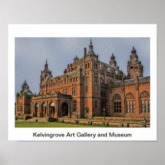 Poster Galerie d'art de Kelvingrove et musée, Glasgow