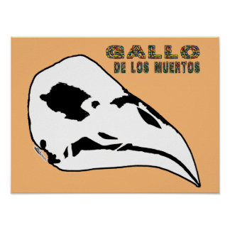 Poster Gallo De Los Muertos