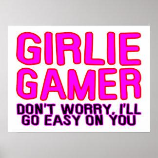Poster Gamer de Girlie allant facile