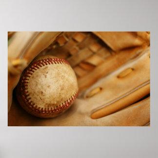 Poster Gant et boule de base-ball