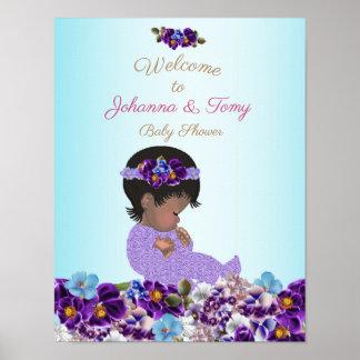 Poster Garçon de baby shower d'affiche, bébé, bleu, 16x20