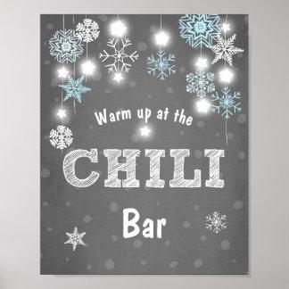 Poster Garçon frais de flocons de neige bleus d'hiver de