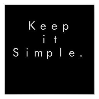 Poster Gardez-le affiche minimale simple