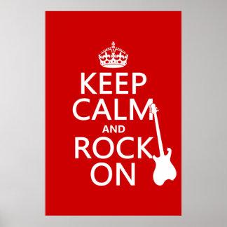 Poster Gardez le calme et basculez sur (guitare) (toute