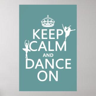 Poster Gardez le calme et dansez sur (ballet) (toutes les