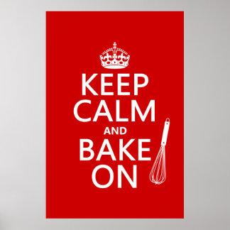 Poster Gardez le calme et faites cuire au four dessus