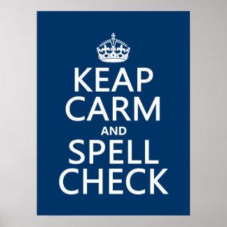 Poster Gardez le calme et le contrôle de charme (avec