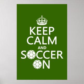 Poster Gardez le calme et le football dessus