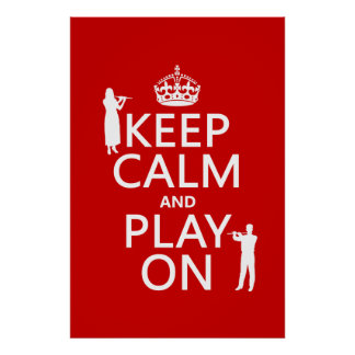 Poster Gardez le calme et le jeu sur (cannelure) (tout