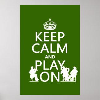 Poster Gardez le calme et le jeu sur (les instruments