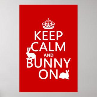 Poster Gardez le calme et le lapin dessus - toutes les