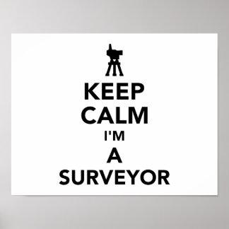 Poster Gardez le calme que je suis un arpenteur