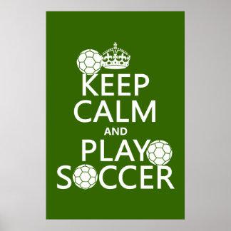 Poster Gardez le football de calme et de jeu (toute