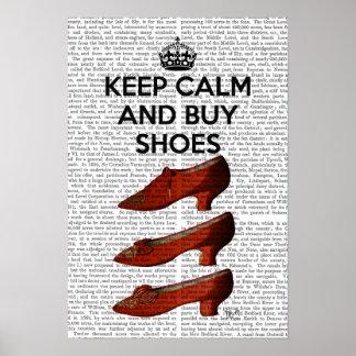 Poster Gardez les chaussures calmes d'achat