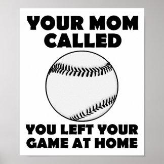 Poster Gauche votre affiche drôle de jeu à la maison