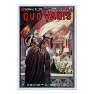 Poster George vintage Kleine présente Quo Vadis Nero