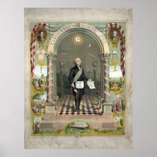 Poster George Washington en tant que franc-maçon