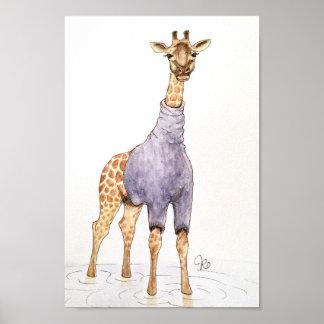 Poster Girafe dans un col roulé