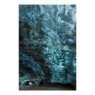 Poster Glace bleue d'une caverne de glace, Islande