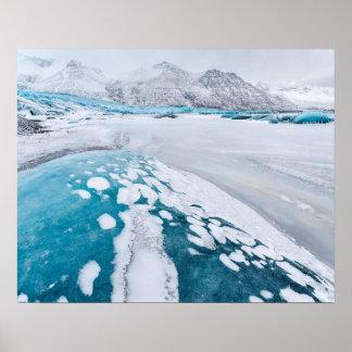 Poster Glace congelée de glacier, Islande