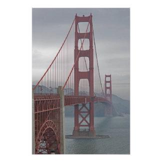 Poster Golden gate bridge en brume