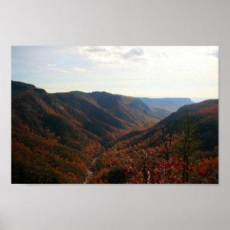 Poster Gorge de Linville dans l'automne, la Caroline du