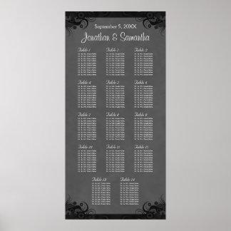 Poster Goth noir et gris épousant le diagramme