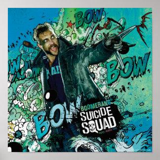 Poster Graffiti de caractère de boomerang du peloton | de