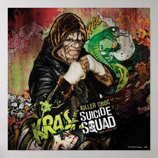 Poster Graffiti de caractère de Croc de tueur du peloton