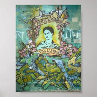 Poster Graffiti de Frida Kahlo