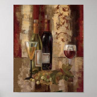 Poster Graffiti et vin