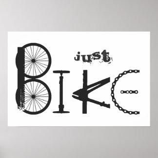 """Poster Graffiti """"juste de vélo"""" des pièces de vélo et des"""