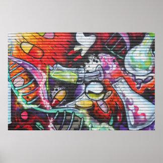 Poster Graffiti médical coloré de thème