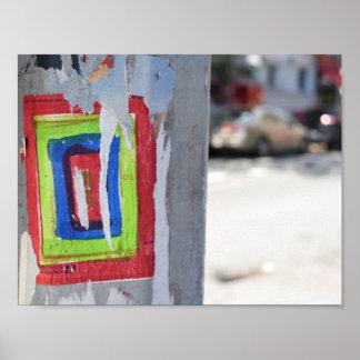Poster Graffiti public de Polonais de téléphone de New