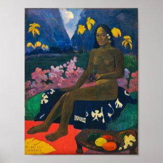 Poster Graine de Gauguin de l'Areoi