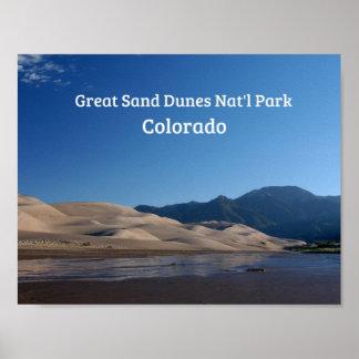 Poster Grand parc national de dunes de sable, Co
