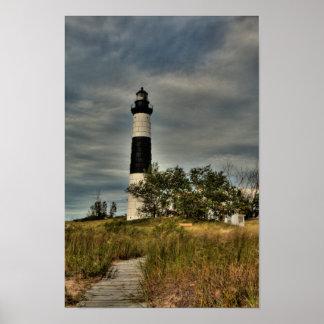 Poster Grand phare de point de sable