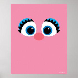 Poster Grand visage d'Abby Cadabby