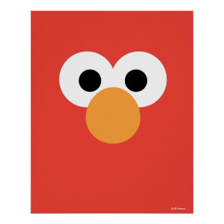 Poster Grand visage d'Elmo