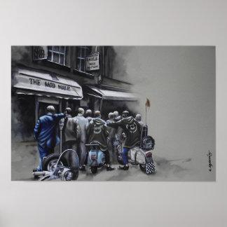 Poster Grande ville - scène de rue de mod