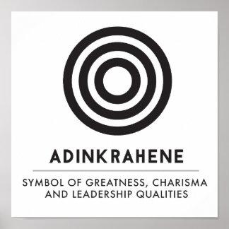 Poster Grandeur d'Adinkrahene  , caractère, direction