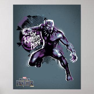 Poster Graphic de guerrier de la panthère noire | du Roi