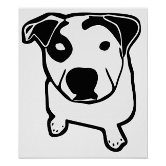 Poster Graphique d'à l'os de pitbull