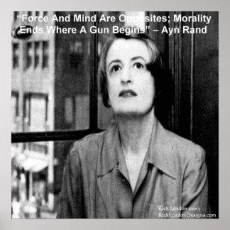 Poster Graphique d'Ayn Rand et affiche célèbre de