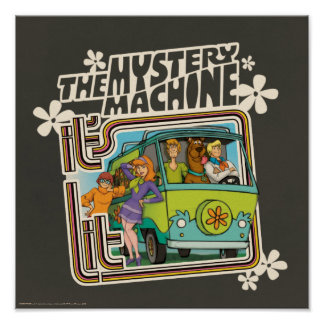 Poster Graphique de machine de mystère a Lit de