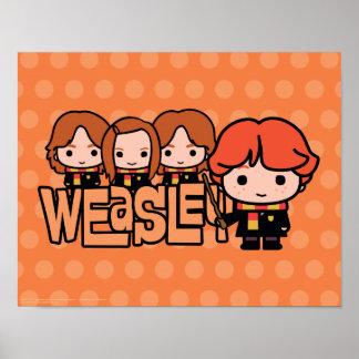 Poster Graphique de Weasley Siblilings de bande dessinée