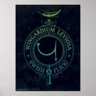 Poster Graphique du charme   Wingardium Leviosa de Harry