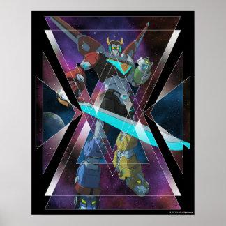 Poster Graphique intergalactique de Voltron | Voltron